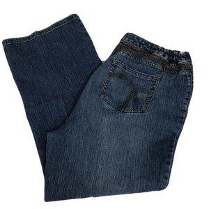 Womens 18W Plus Liz Claiborne Bootcut Denim Jeans